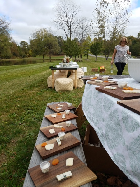 Catered Pop-up Picnic with Artisanal Cheeses
